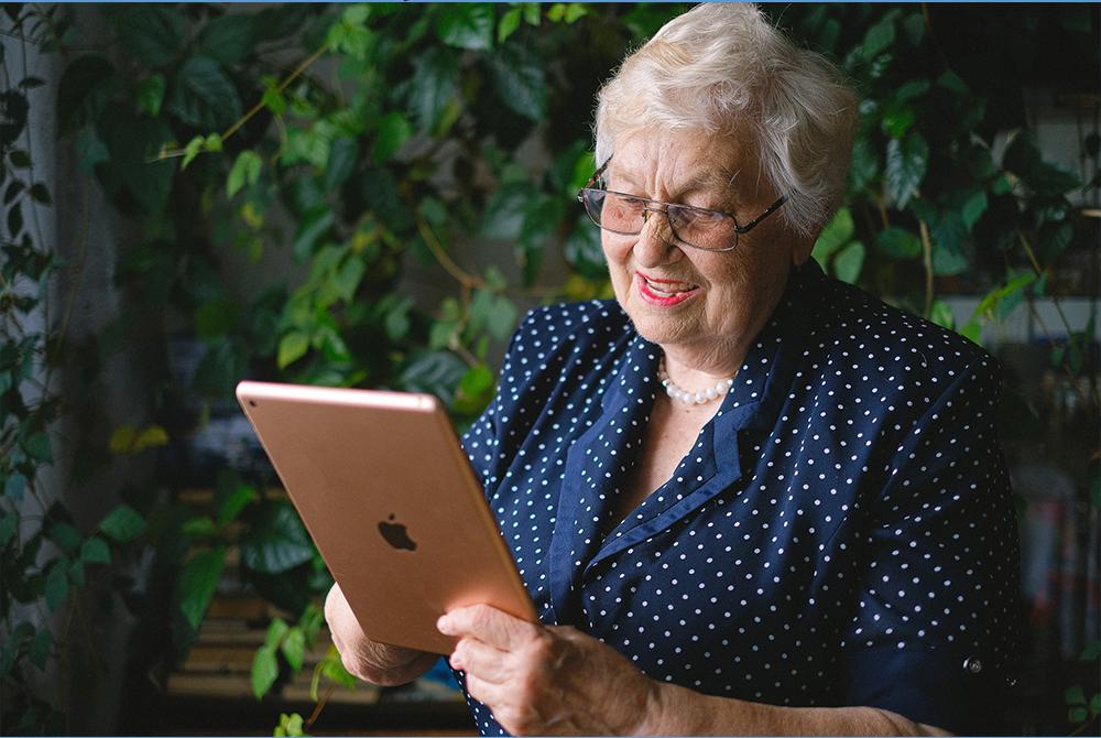Des tablettes pour les seniors
